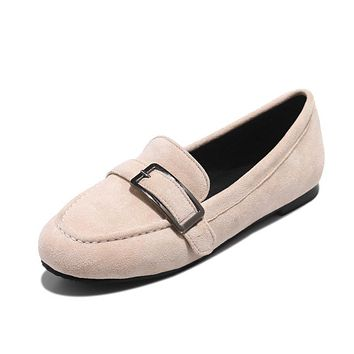 Suede Slip On Loafers Flats Shoes for Women 1754