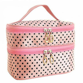 2016 New Nylon Multifunction Makeup Organizer Bag Women Cosmetic Bag Travel Bag Handbag Lady Bolsas Women Bag XJ69