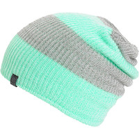 Empyre Piper Mint & Grey Rugby Stripe Beanie
