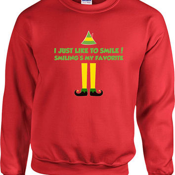 Funny Christmas Sweater Buddy The Elf Sweater Christmas Presents Holiday Season Ugly Xmas Sweater Elf Sweater Unisex Hoodie - SA406