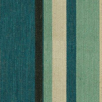 G P & J Baker Fabric BF10517.2 Drummond Stripe Blue/Aqua