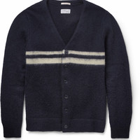 Gant Rugger - Striped Wool and Mohair-Blend Cardigan | MR PORTER