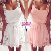 Summer Women Casual Dresses Sleeveless Cocktail Short Mini Dress Excellent = 1753737668