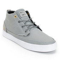 Emerica Troubadour Leo Romero Grey & White Coated Canvas Skate Shoe