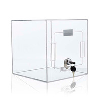 Tumble Box 8w x 8h x 8d Clear