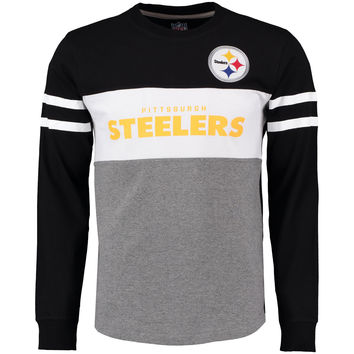 Men's Pittsburgh Steelers G-III Sports by Carl Banks Gray Era Long Sleeve T-Shirt