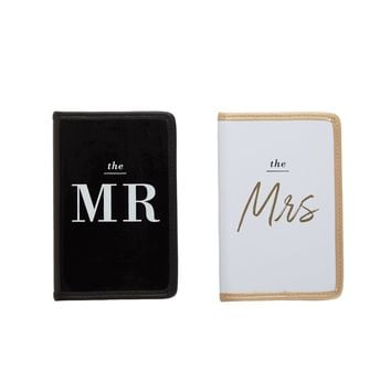 Mr. and Mrs. Passport Case Set