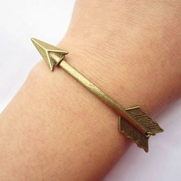 Combination bracelet---antique bronze arrow pendant&alloy chain
