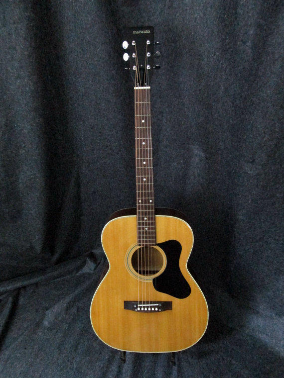 vintage madeira guild a2 acoustic guitar from guitartree on etsy