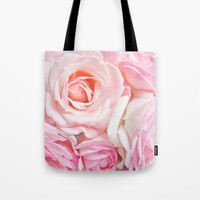 pink roses Tote Bag by sylviacookphotography