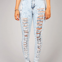 Acid Wreck High Waist Skinnys | Skinny Jeans at Pink Ice