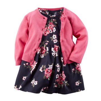 Carter's® Floral Dress and Cardigan - Baby Girls newborn-24m - JCPenney
