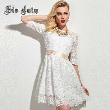 (ON SALE) Sisjuly Women Lace Dress Fashion Mini Party Dress 50% OFF PLUS FREE SHIPPING