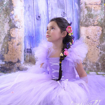 Disney Princess Inspired Party Backdrop / Princess Photography Backdrop / Purple Cottage Door / Tangled Princess Background (FD5054)