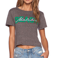 A Fine Line Brothers Malibu Beach Cropped Tee in Gray