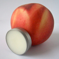 Natural Peach Lip Balm, Shea Butter, Beeswax
