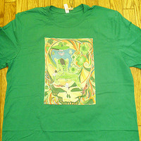 Grateful Dead SYF Shamrock Doodah Man Green Shirt Size XL