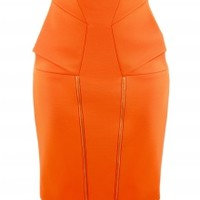 Orange Zip Skirt | NOT JUST A LABEL