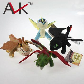 DCCKWQA How To Train Your Dragon 2 plush toys TOOTHLESS Night Fury Skull Crusher Gronkle Meatlug Stormfly Deadly Nadder Stuffed kids toy