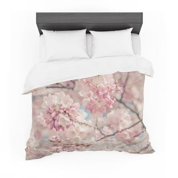 """Suzanne Harford """"Cherry Blossoms"""" Pink Pastel Photography Featherweight Duvet Cover"""