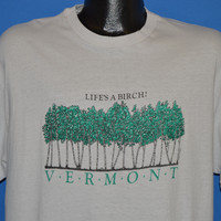 80s Vermont Life's A Birch t-shirt Large