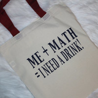 Me plus math equals I need a drink