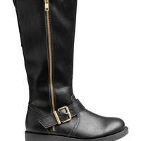 Knee-high Biker Boots - from H&M