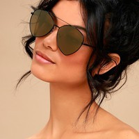 Vegas Vacay Black and Gold Aviator Sunglasses