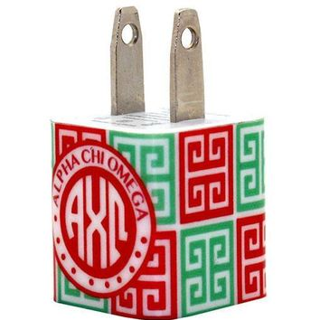 Alpha Chi Omega Greek Key Phone Charger