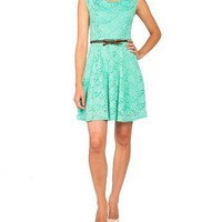 Lace Belted Spring Dress - 2020AVE