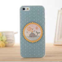 Transparent Case for iPhone 4/4s Whale Sugar