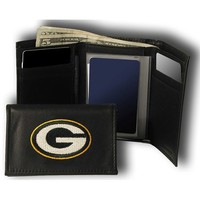 Rico Green Bay Packers Embroidered Tri Fold Wallet