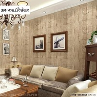 Renovation Stickers Wall Paper 3d Wooden Mural Vintage Style Wallpaper for Home Living Hotel Restaurant  Interior Decor