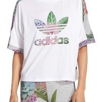 adidas Originals 'Training' Floral Cuffed Tee | Nordstrom