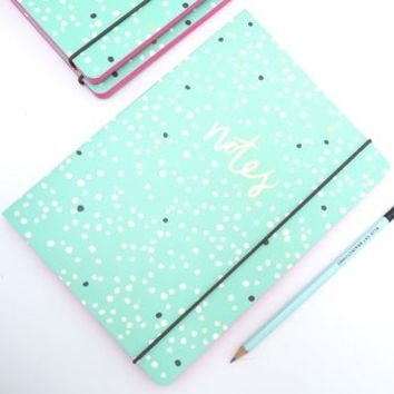 Dotty Pink Edged Notebook