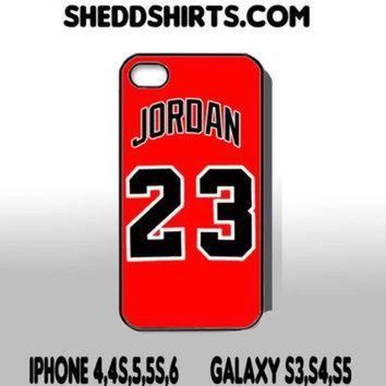 DCKL9 Michael Jordan Chicago Bulls Jersey Iphone 4 5 6 Samsung Galaxy S3 S4 S5 Phone Case Co