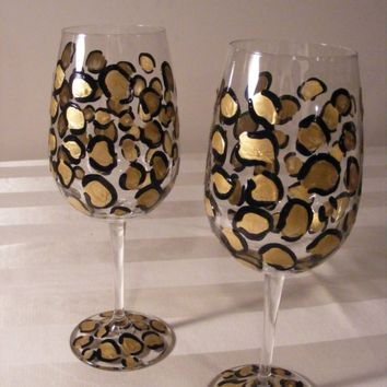 Hand Painted Wine Glasses In Stores That Sell