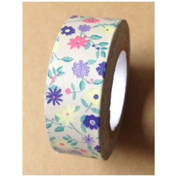 Washi tape - Shabby Chic florals (1 roll - 15mm x 10m) WT480