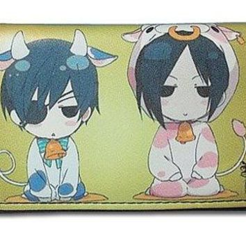 Black Butler Sebastian & Ciel Cow Costume Wallet