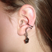 Pair of Hematite Ear Cuffs with Matching Whimsical by jhammerberg
