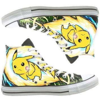 CREYUG7 Anime Converse custom painted shoes, custom shoes by natalshoes