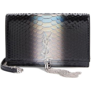 Saint Laurent Kate Dégradé Genuine Python Crossbody Bag | Nordstrom