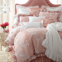 Queen Ribbon-Swirl Duvet Cover
