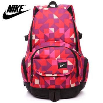"""Nike"" Fashion Tartan Travel Backpack Shoulder Bag For Women Men"