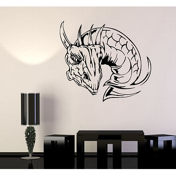 Wall Decal Dragon Head Lizard Monster Serpent Vinyl Sticker (ed1607)