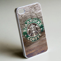 Wood Print Starbucks Coffee iPhone Case ,  iPhone 5 Case , Starbucks iphone case , iPhone 4 Case , Plastic iPhone 4s case , wood pattern
