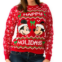 Mickey and Minnie Holiday Sweater