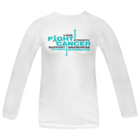 Ovarian Cancer Fight Cancer Women's Long Sleeve T-Shirts