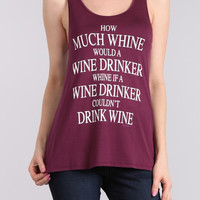After Wine Tongue Twister Racerback Tank Top
