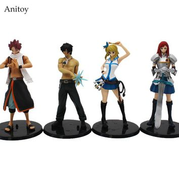 Anime Fairy Tail Lucy Heartfilia Erza Scarlett Grey Fullbuster Natsu Dragnir/ PVC Figure Collectible Model Toys